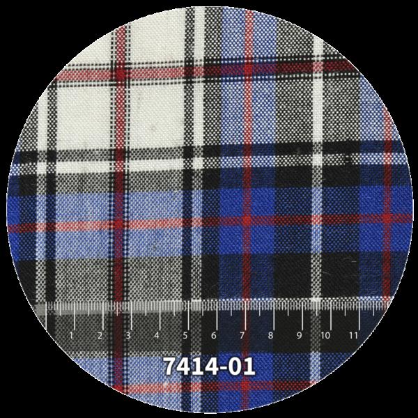Tela escocés escolar modelo 7414-01