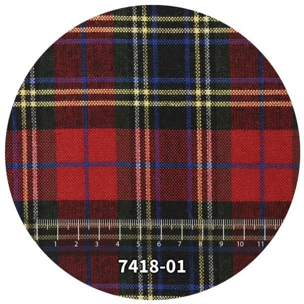 Tela escocés escolar modelo 7418-01