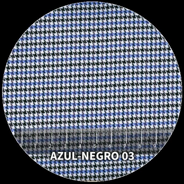 Tela Pata de Gallo modelo Azul-Negro 03