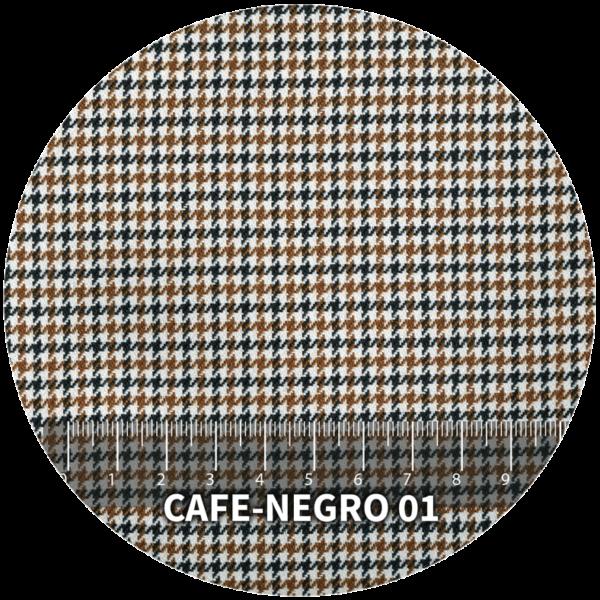Tela Pata de Gallo modelo Café-Negro 01