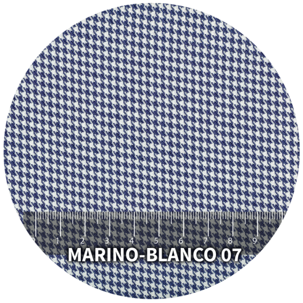 Tela Pata de Gallo modelo Marino-Blanco 07