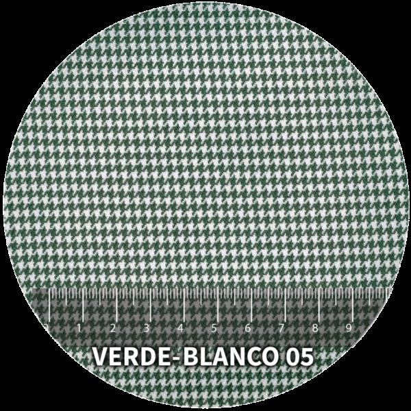 Tela Pata de Gallo modelo Verde-Blanco 05
